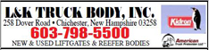 l&k l and k truck body trucks for sale chichester new hampshire nh