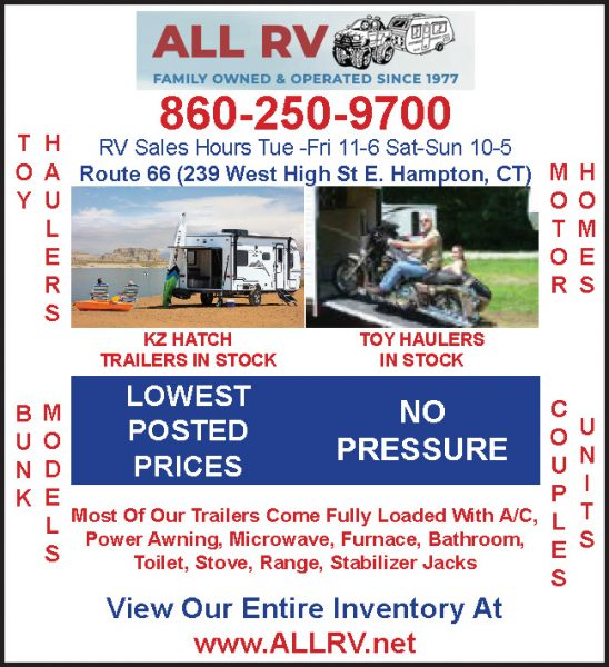 TOY HAULERS, MOTOR HOMES, MODEL BUNKS, COUPLES UNIT, KZ HATCH TRAILERS IN STOCK